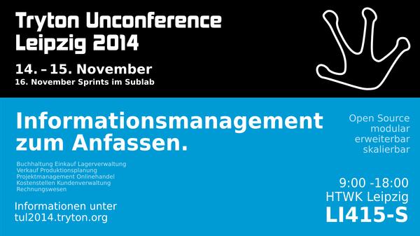 Wir organisieren die Tryton Unconference 2014